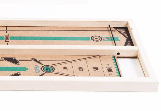 Rustik Flipop wooden board game similar to shuffleboard