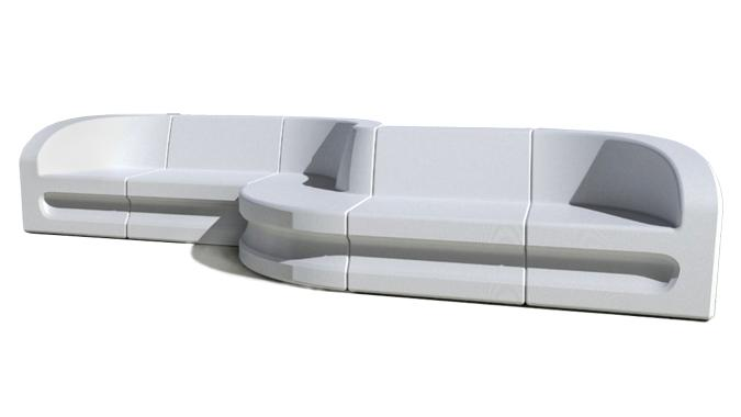 Commercial quality modern outdoor sectional furniture seating set