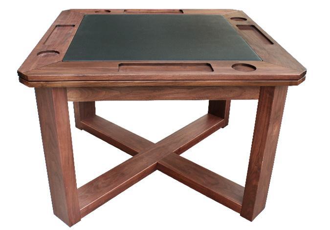 Danish style poker card game table in Walnut finish