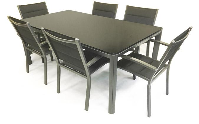 Palermo/Roma7 patio outdoor dining table and chair set