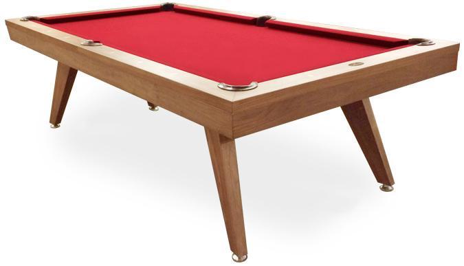 Copenhagen 8 foot modern Danish looking Walnut pool table