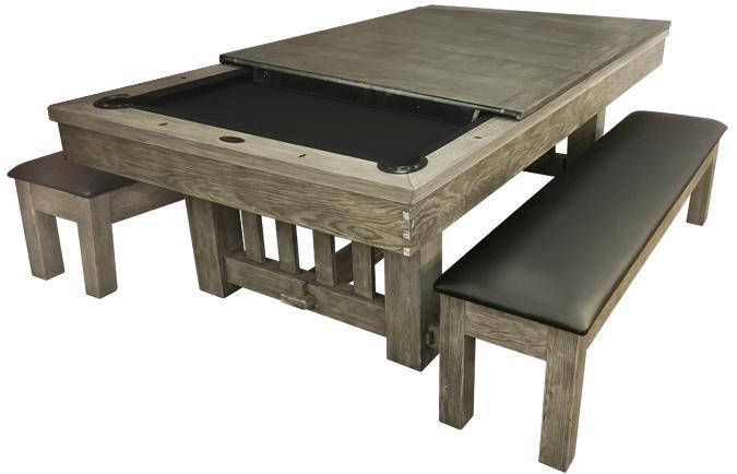 Surface dîner pour table billard Cornwall bois de grange