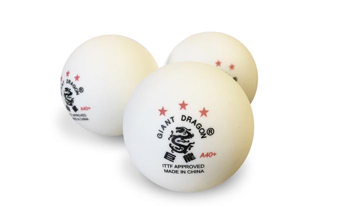 Boites de 6 balles blanches Giant Dragon ABS 40mm 3 étoiles