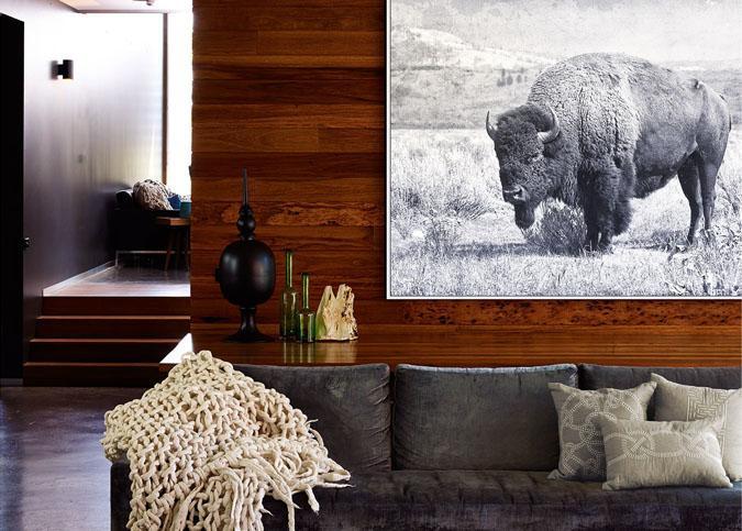 Large 48 x 36 inch Buffalo North Range painted print canvas