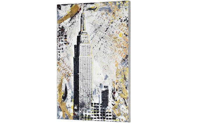 Set of 2 painted New York scene canvas print frames