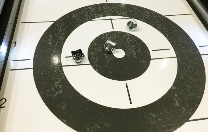 Jeux Cool Curling et Shuffleboard Edge II 10 pieds noir