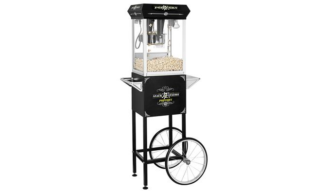Retro style Popcorn machine with antique looking cart
