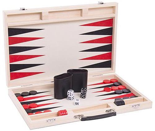 Ensemble de jeu Backgammon dans un boitier en bois
