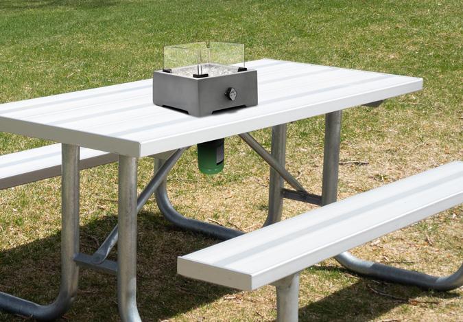 Rawdon table top mini portable Fire Burner in concrete Grey finish