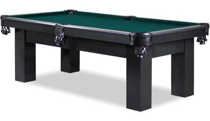 Table de billard noire 8 pieds Roxton avec ardoise