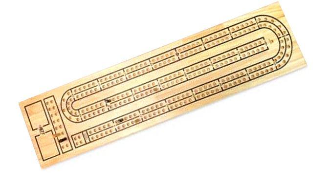 Table de jeu de Crib double voies Cribbage
