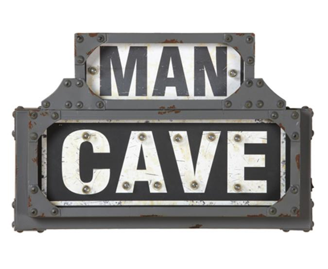 Man Cave illuminated metal sign