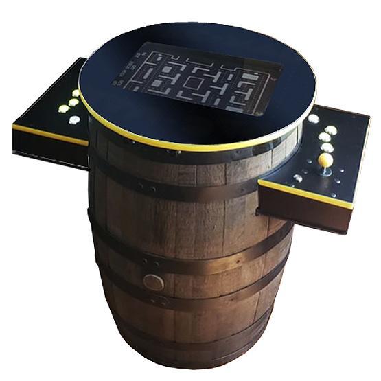 Arcade classique jeux fabriquée avec baril de whisky
