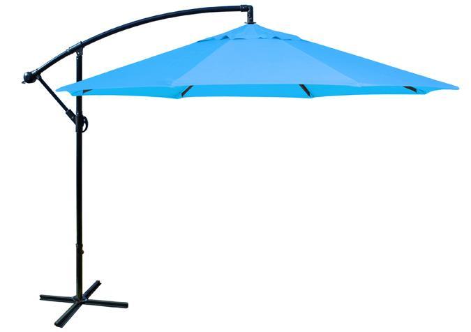 Parasol de jardin octogonal 10 pieds bleu décentré Patio Promo
