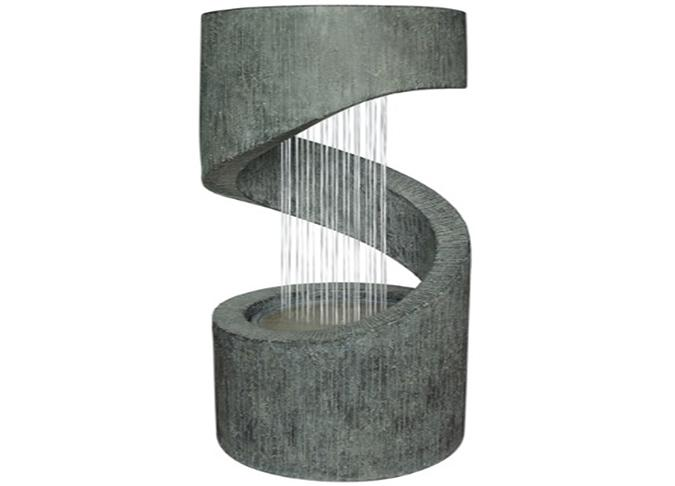 Spiral Water Fountain outdoor decorative feature