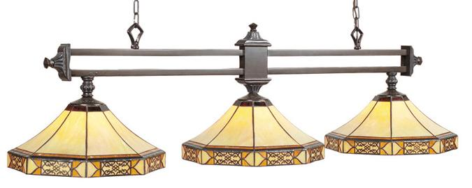Lampe Tiffany triple Mission Filigree