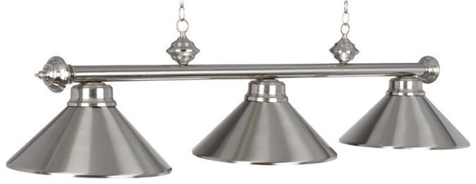 Lampe de billard métal triple abat-jour