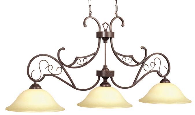 Lampe de billard v nitienne triple abat jour - Lampe pour table de billard ...