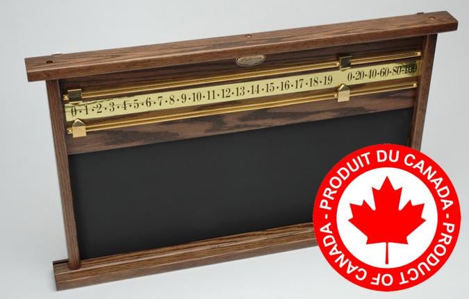 Palason two player Oak billiard scorekeeper