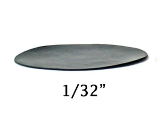 Cales en neoprene pour pattes de tables de billard, 3 pouces x 1/32 pouce, (50/ packet)