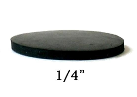Cales en neoprene pour pattes de table de billard, 3 pouces x ¼ pouces, (25/packet)