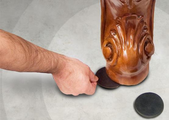 Cales en neoprene pour pattes de tables de billard, 3 pouces x 1/8 pouce, (50/ packet)