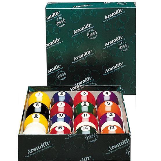 Ensemble de boules de billard 2¼ pouces Aramith première qualité