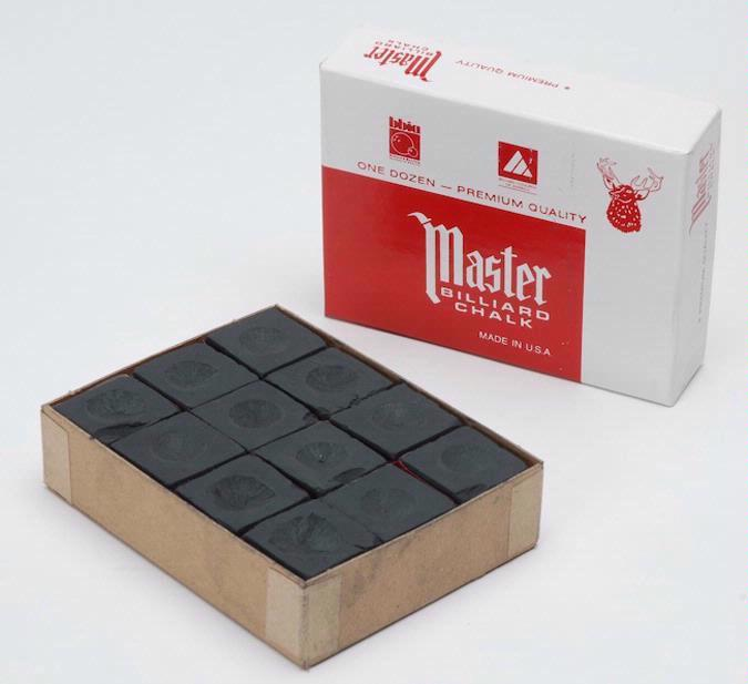Craie de billard « Master » 1 douzaine, noire
