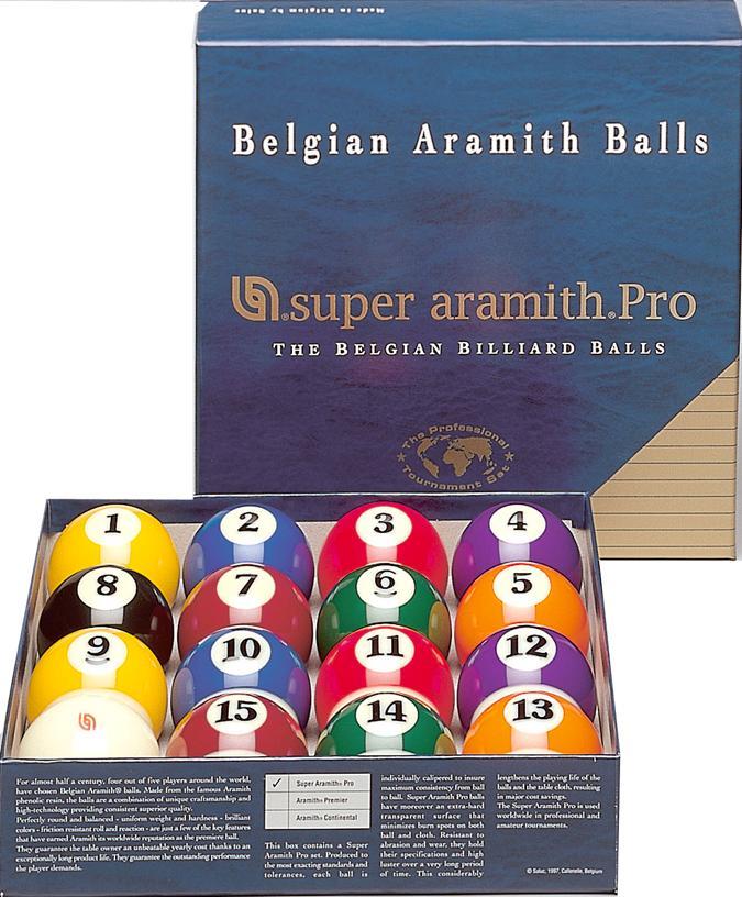 Ensemble de Boules de Billard Super Aramith Pro