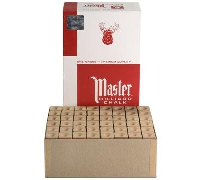 Craie de billard « Master », 1 grosse, or