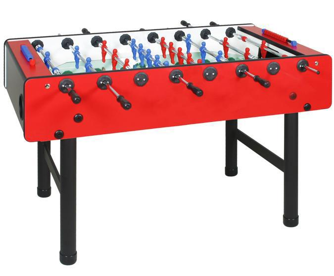 Table de soccer Longoni Bomber babyfoot rouge