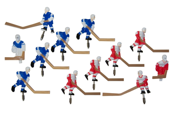 Ensemble de joueurs pour table de hockey Carrom - pièces de remplacement