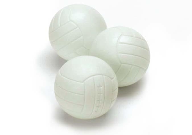 Balles rainurées pour table soccer babyfoot