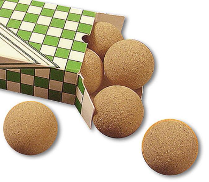 Balles de liège pour tables de soccer babyfoot