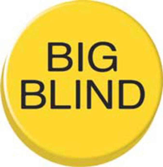Bouton Poker - Big Blind -