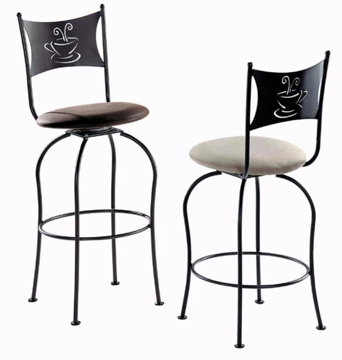 tabouret de cuisine trica caf pivotant. Black Bedroom Furniture Sets. Home Design Ideas