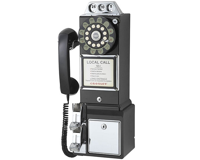 Vintage Retro 1950's Phone, Black