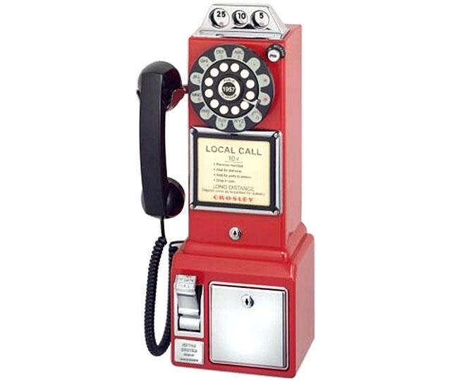Téléphone rétro rouge de style 1950