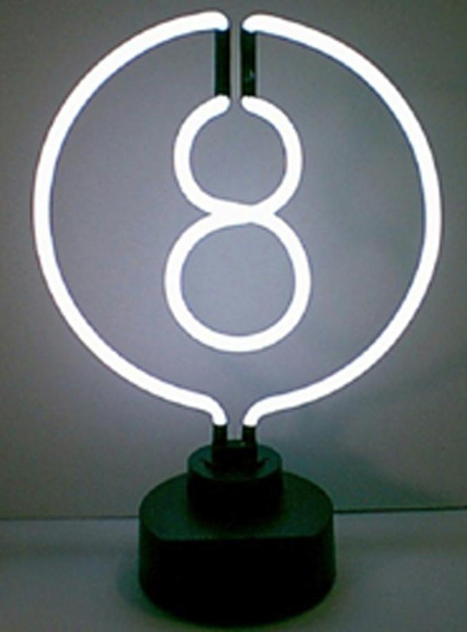 Sculpture enseigne néon - 8 Ball