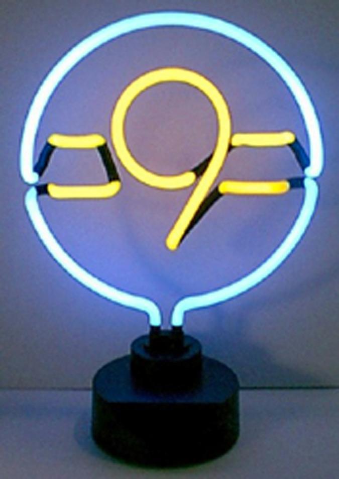 Sculpture lumineuse enseigne néon - 9 Ball