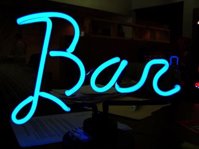 Enseigne n on de bar - Enseigne de bar lumineuse ...