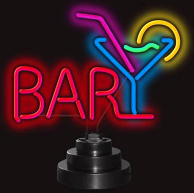 Neon Sculpture - Bar and Martini