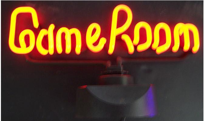 Sculpture enseigne néon - Game Room