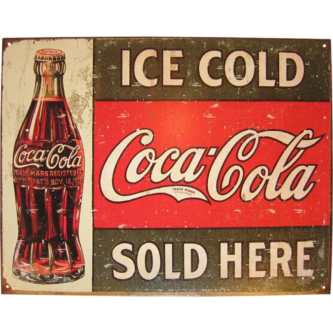 Coca Cola Sold Here Metal Sign