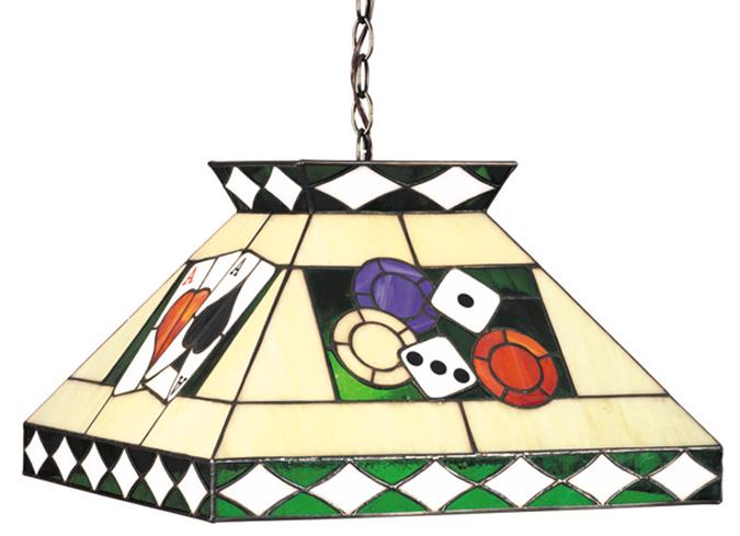 Lampe Tiffany Poker, Carrée