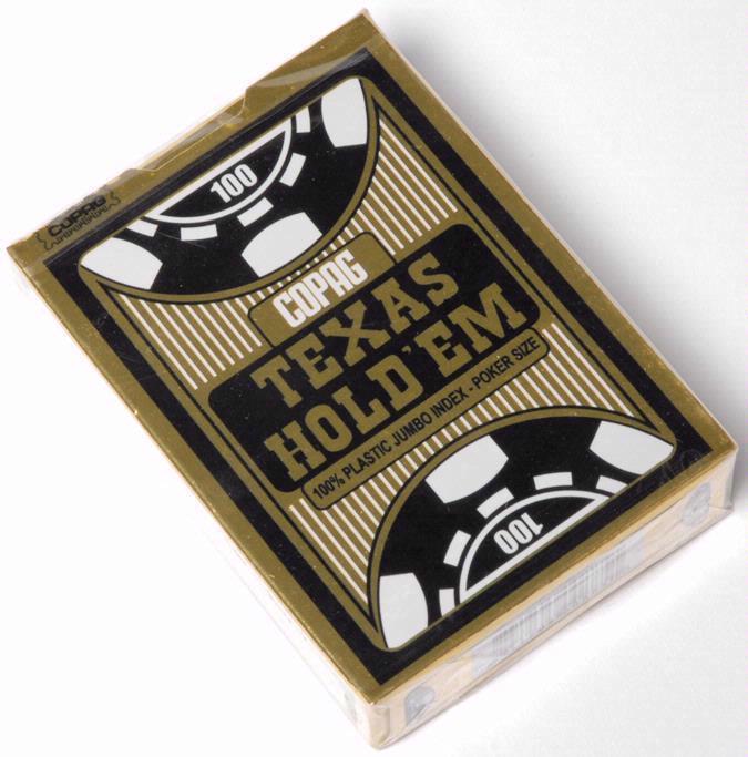 Jeu de cartes de poker en plastique Copag Texas Hold'em
