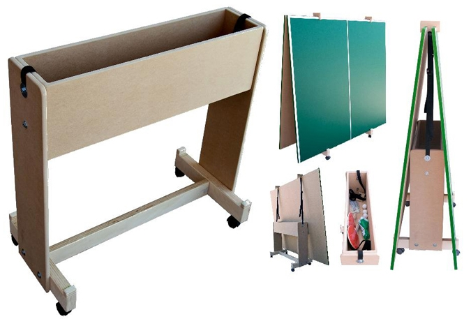 Conversion Top Cart For Ping Pong Table Surface Storage