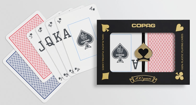 Copag Peek Red and Blue Poker Playing Cards