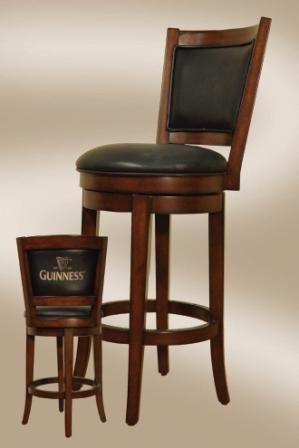 Guinness Bar Stool with Backrest