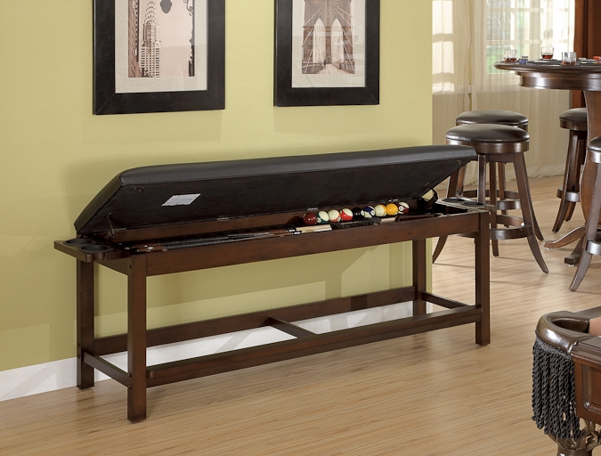 Legacy Classic Storage Bench for pool table accessories